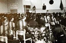 第1回入学式 旧加積小学校跡講堂